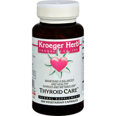 Kroeger Herb Thyroid Care - 100 Capsules