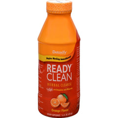 Detoxify One Source Ready Clean Herbal Cleanse - Orange Flavor - 16 Oz