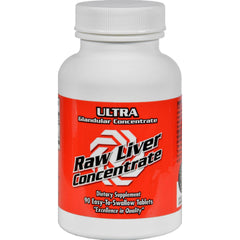 Ultra Glandulars Raw Liver Concentrate - 8000 Mg - 90 Tablets