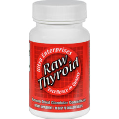 Ultra Glandulars Raw Thyroid - 90 Tablets