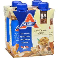 Atkins Advantage Rtd Shake Cafe Caramel - 11 Fl Oz Each - Pack Of 4