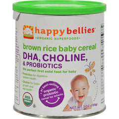 Happy Baby Happybellies Organic Brown Rice Baby Cereal - 7 Oz - Case Of 6