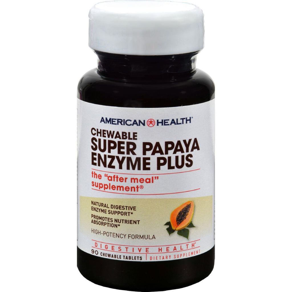 American Health Super Papaya Enzyme Plus Chewable - 90 Chewable Tablets