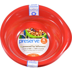 Preserve Everyday Bowls - Pepper Red - Case Of 8 - 4 Packs - 16 Oz