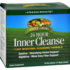 Garden Greens 24 Hour Inner Cleanse 7 Day Intestinal Cleansing Formula