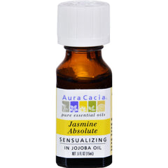 Aura Cacia Jasmine Absolute In Jojoba Oil - 0.5 Fl Oz
