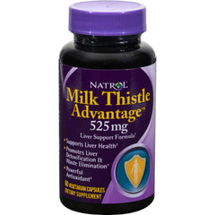 Natrol Milk Thistle Advantage - 525 Mg - 60 Vegetarian Capsules