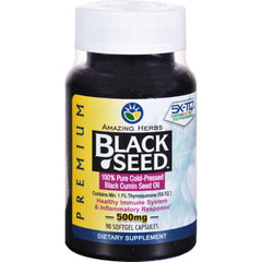 Amazing Herbs Black Seed Black Cumin Seed Oil - 90 Softgels