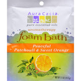 Aura Cacia Foam Bath Peaceful Patchouli And Sweet Orange - 2.5 Oz - Case Of 6