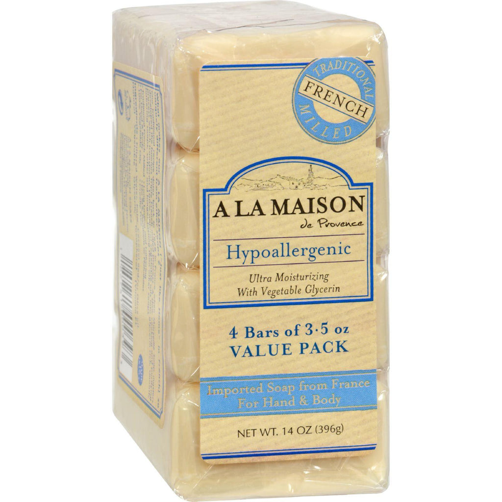 A La Maison Bar Soap Unscented Value Pack - 3.5 Oz Each - Pack Of 4