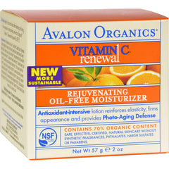 Avalon Organics Rejuvenating Oil-free Moisturizer Vitamin C - 2 Fl Oz
