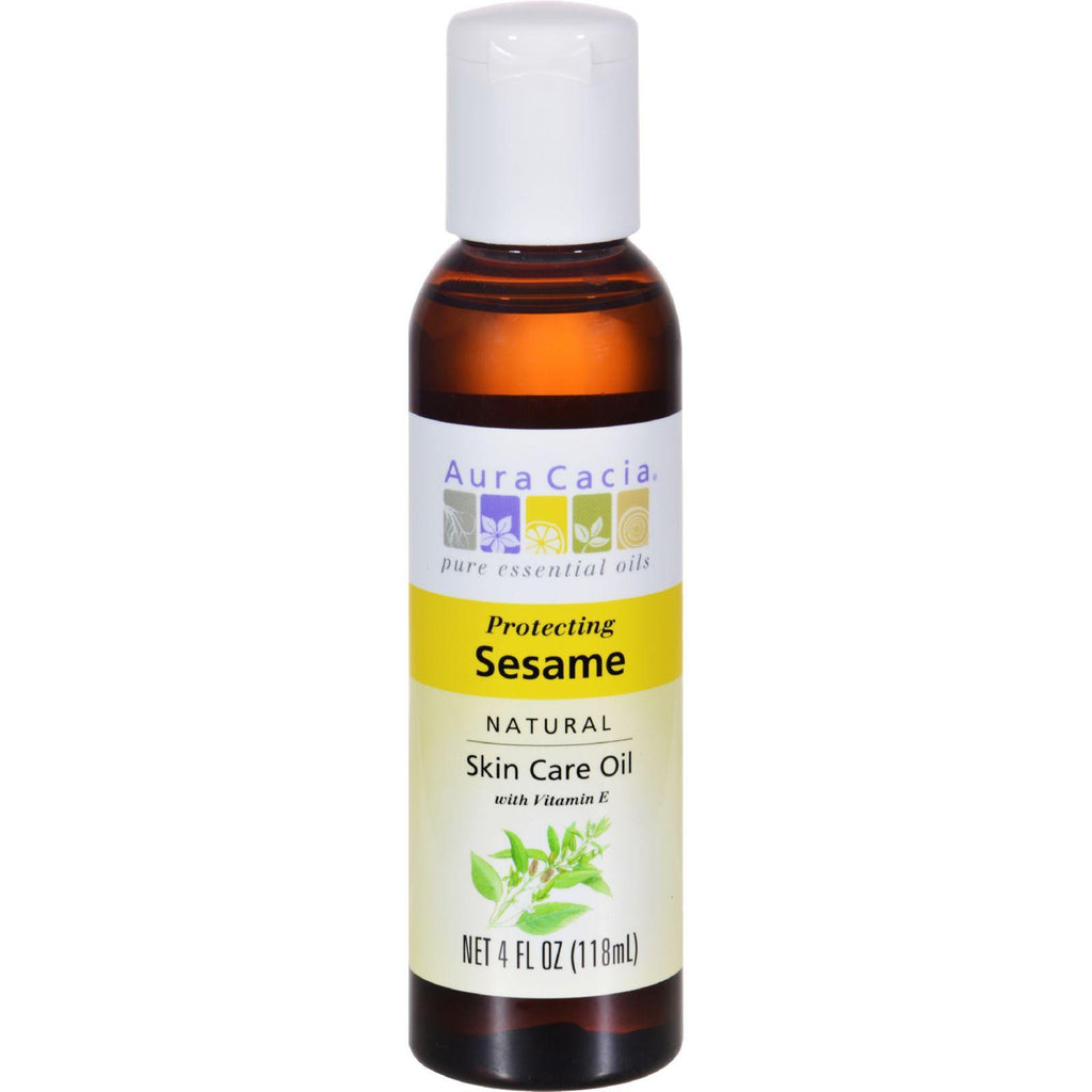 Aura Cacia Natural Skin Care Oil Sesame - 4 Fl Oz