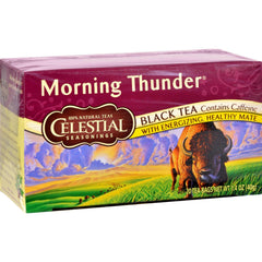 Celestial Seasonings Black Tea - Morning Thunder - 20 Bags