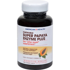 American Health Super Papaya Enzyme Plus Chewable - 180 Chewable Tablets