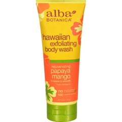 Alba Botanica Hawaiian Body Wash Exfoliating Papaya Mango - 7 Fl Oz