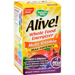 Nature's Way Alive Whole Food Energizer Mult-vitamin - 90 Vcaps