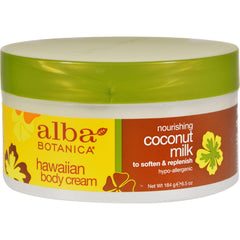 Alba Botanica Hawaiian Body Cream Coconut Milk - 6.5 Oz