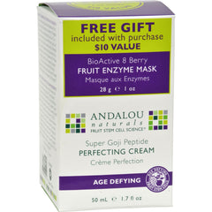 Andalou Naturals Super Goji Peptide Perfecting Cream - 1.7 Fl Oz