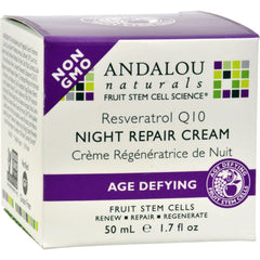 Andalou Naturals Resveratrol Q10 Night Repair Cream - 1.7 Fl Oz