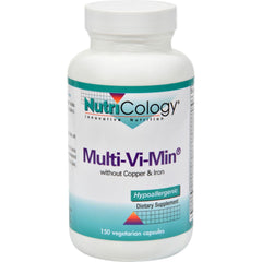 Nutricology Multi-vi-min Without Copper And Iron - 150 Vegetarian Capsules