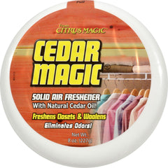 Citrus Magic Cedar Magic Solid Air Freshener - Case Of 6 - 8 Oz