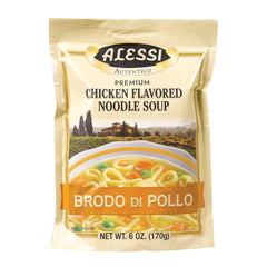 Alessi Noodle Soup - Chicken - Case Of 6 - 6 Oz.