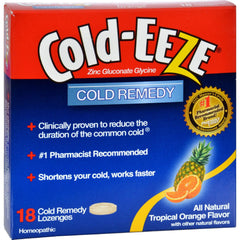 Cold-eeze Cold Remedy Lozenges Tropical Orange - 18 Lozenges