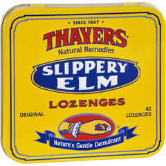Thayers Slippery Elm Lozenges Original - 42 Lozenges - Case Of 10
