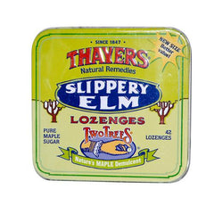 Thayers Slippery Elm Lozenges Maple - 42 Lozenges - Case Of 10
