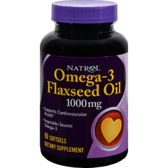 Natrol Omega-3 Flax Seed Oil - 1000 Mg - 90 Softgels