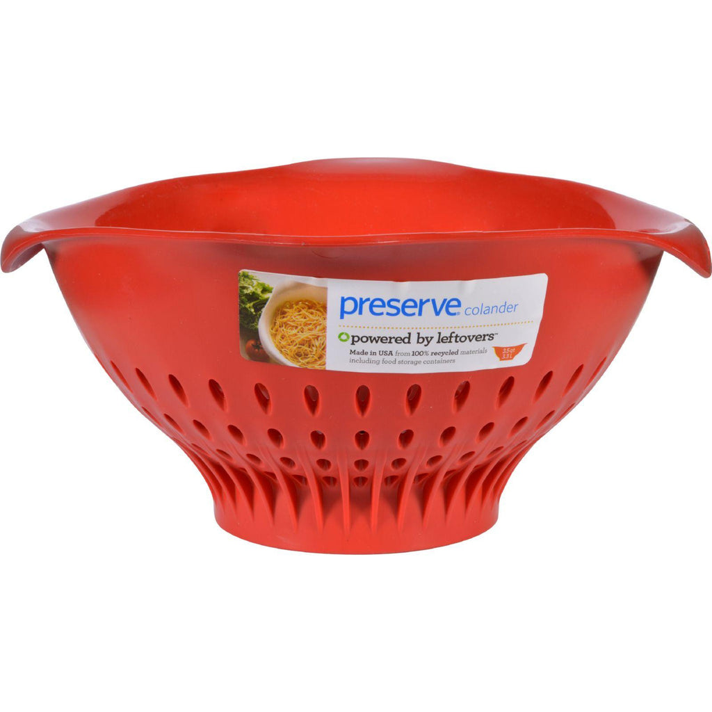 Preserve Large Colander - Red - Case Of 4 - 3.5 Qt