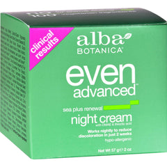 Alba Botanica Natural Even Advanced Sea Plus Renewal Night Cream - 2 Oz