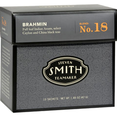 Smith Teamaker Black Tea - Brahmin - Case Of 6 - 15 Bags