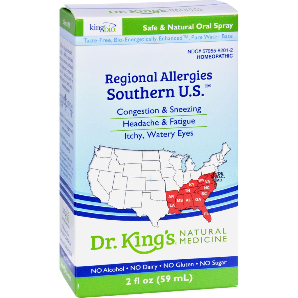 King Bio Homeopathic Regional Allergies Southern U.s. - 2 Fl Oz
