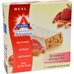 Atkins Advantage Bar Strawberry Almond - 5 Bars