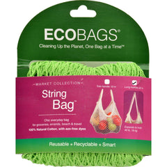 Ecobags Market Collection String Bags Long Handle - Lime - 10 Bags