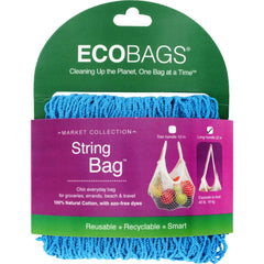 Ecobags Market Collection String Bags Long Handle - Caribbean Blue - 1 Bag