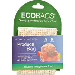 Ecobags Market Collection Organic Net Drawstring Bag - Large - 10 Bags