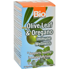 Bio Nutrition Immune Wellness - Olive Leaf And Oregano - 60 Vcaps