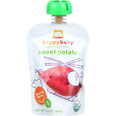 Happy Baby Baby Food - Organic - Starting Solids - Stage 1 - Sweet Potatoes - 3.5 Oz - Case Of 16