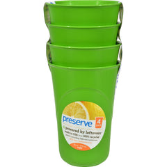 Preserve Reusable Cups Apple Green - 16 Oz Each - Pack Of 4