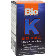 Bio Nutrition Bio Krill 500mg - 45 Softgels