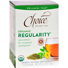 Choice Organic Teas - Organic Regularity Tea - 16 Bags - Case Of 6