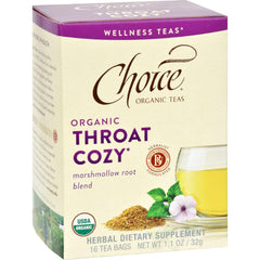 Choice Organic Teas - Organic Throat Cozy Tea - 16 Bags - Case Of 6