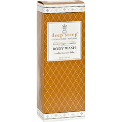 Deep Steep Body Wash - Brown Sugar Vanilla - 8 Oz