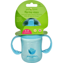 Green Sprouts Sippy Cup - Flip Top Aqua - 1 Ct