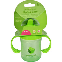Green Sprouts Sippy Cup - Flip Top Green - 1 Ct