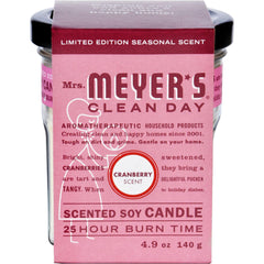 Mrs. Meyer's Soy Candle - Cranberry - Case Of 6 - 4.9 Oz Candles