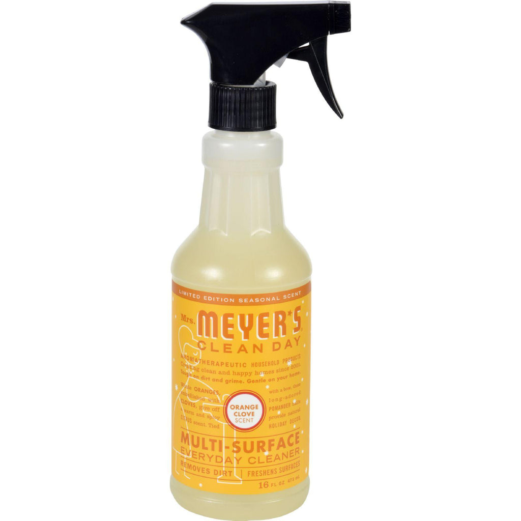Mrs. Meyer's Multi Surface Spray Cleaner - Orange Clove - 16 Fl Oz - Case Of 6