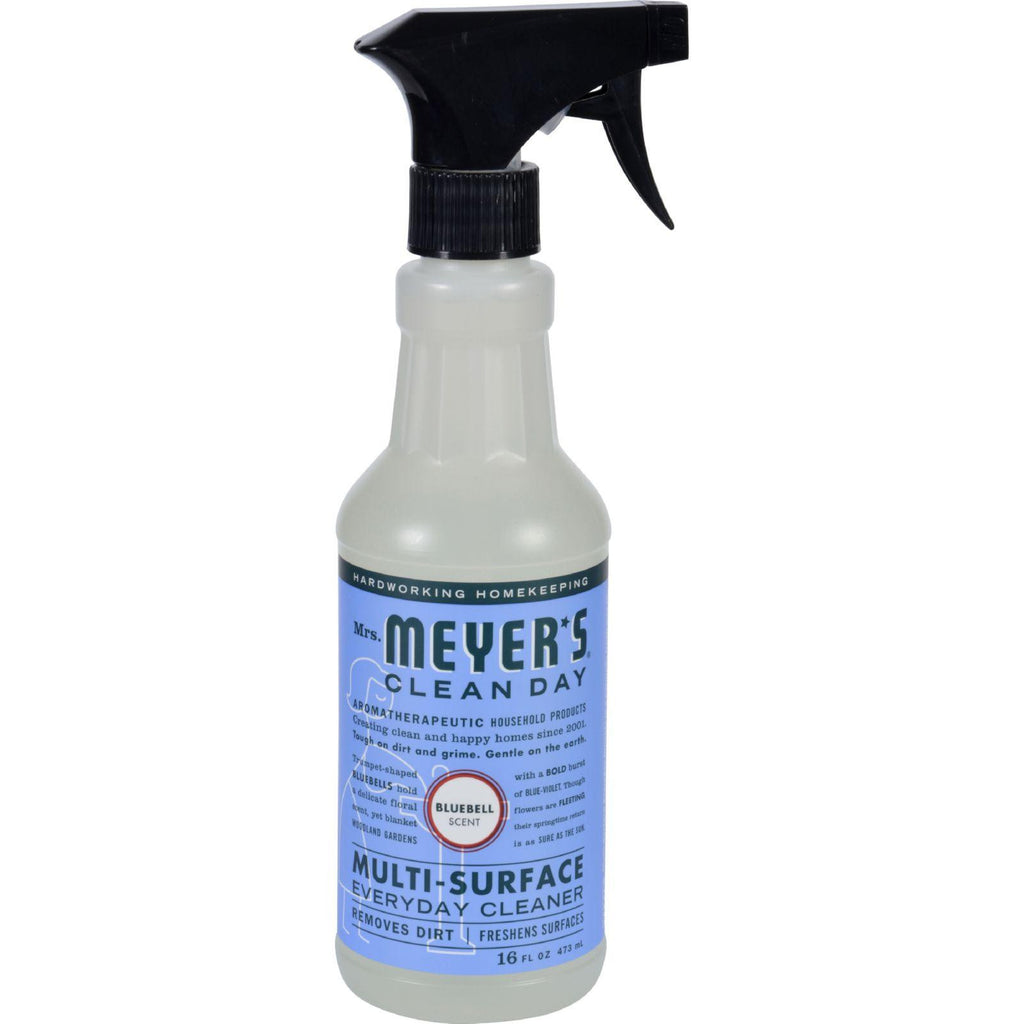 Mrs. Meyer's Multi Surface Spray Cleaner - Blubell - 16 Fl Oz - Case Of 6
